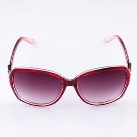 Очки солнцезащитные Оверсайз. Дужки вставки треугольники, оправа и линзы микс, 4х14х5 см