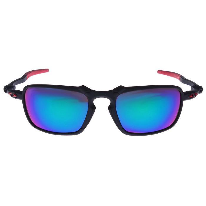 Очки спортивные, классические, линзы фиолетовые, дужки чёрно-красные, тонкие, 14х5.5 см