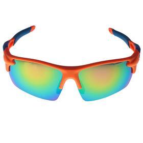 Очки спортивные, линзы  полупрозрачные, зеркальные,  дужки разноцветные, микс, 14х5.5 см