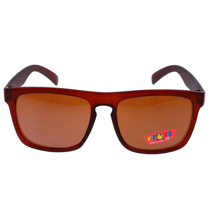 """Очки солнцезащитные детские """"Square"""", оправа с уголком, линзы чёрные, МИКС, 12.5 см"""
