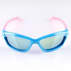 """Очки солнцезащитные детские """"Спорт"""", оправа двухцветная с прорезями, МИКС, 12.5 × 4.5 см"""