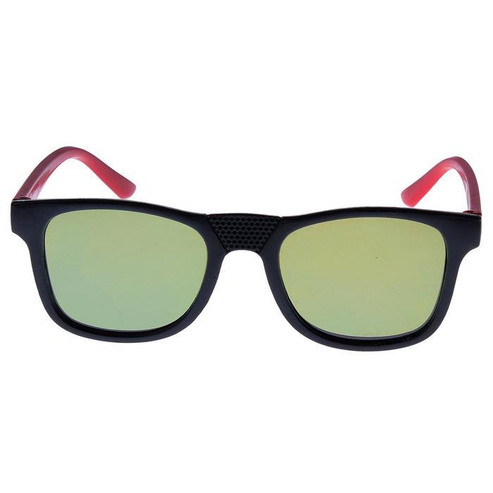 """Очки солнцезащитные детские """"Square"""", оправа двухцветная, линзы МИКС, 12.5 × 4.5 см"""