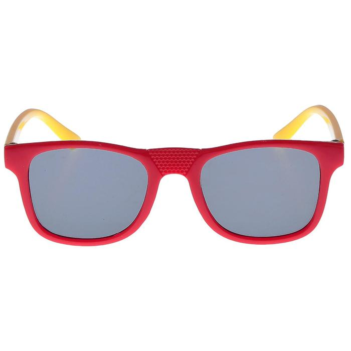 """Очки солнцезащитные детские """"Square"""", оправа двухцветная, МИКС, линзы тёмные, 12.5 × 4.5 см"""