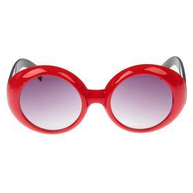 """Очки солнцезащитные детские """"Oversize"""", оправа объёмная, дужки с рисунком, МИКС, 12.5 × 4.5 см"""