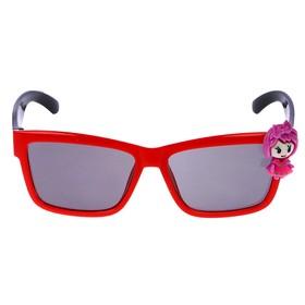 """Очки солнцезащитные детские """"Square"""", оправа двухцветная с фигурой, МИКС, 12.5 × 4.5 см"""