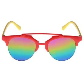 Sunglasses baby, plank top, two tone, iridescent lenses, MIX, 12.5 cm