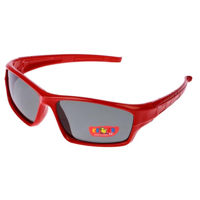 Очки солнцезащитные детские Спорт. Оправа микс, плетение пазл, линзы чёрные, 12.5х4.5 см