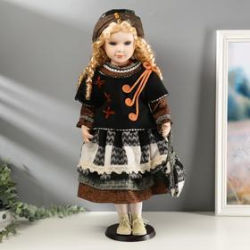 """Кукла коллекционная керамика """"Стеша с сумочкой"""" 60 см"""
