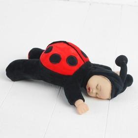 Мягкая игрушка «Кукла в костюмчике божьей коровки», цвета МИКС