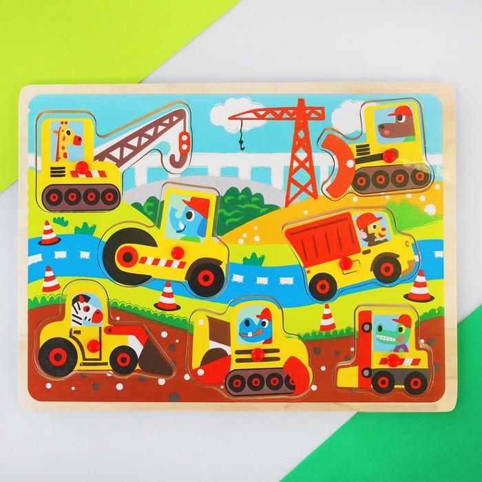 """Рамка-вкладыш """"Детские рисунки. Животные-строители"""" - фото 105593017"""