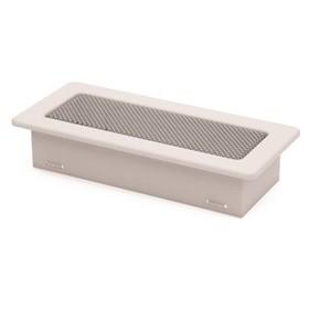 Решетка вентиляционная, металлик, 11 х 24 х 4,8 см