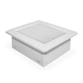 Решетка вентиляционная, металлик, 17 х 17 х 4,8 см