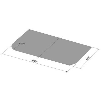 Лист притопочный, чёрный, сталь 0,8 мм, 40 х 80 см