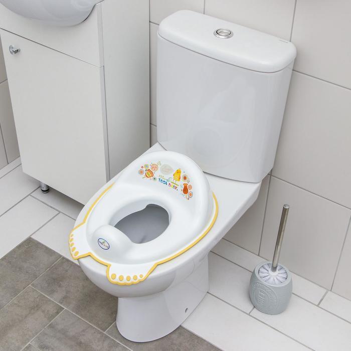 Детская накладка на унитаз антискользящая «Фольклор», цвет белый
