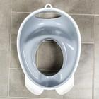 Детская накладка на унитаз антискользящая «Совы», цвет серый - фото 962685