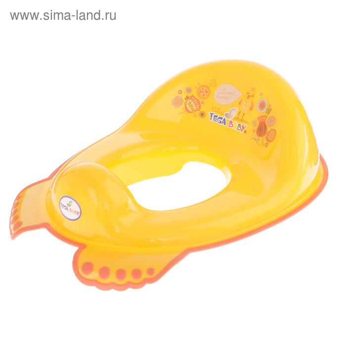 Детская накладка на унитаз антискользящая «Фольклор», цвет жёлтый