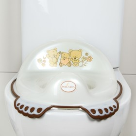 Детская накладка на унитаз антискользящая «Мишки», цвет белый - фото 4655661