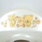 Детская накладка на унитаз антискользящая «Мишки», цвет белый - фото 4655662