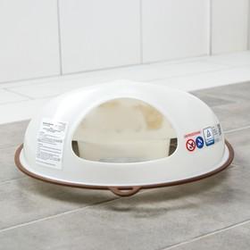 Детская накладка на унитаз антискользящая «Мишки», цвет белый - фото 4655664