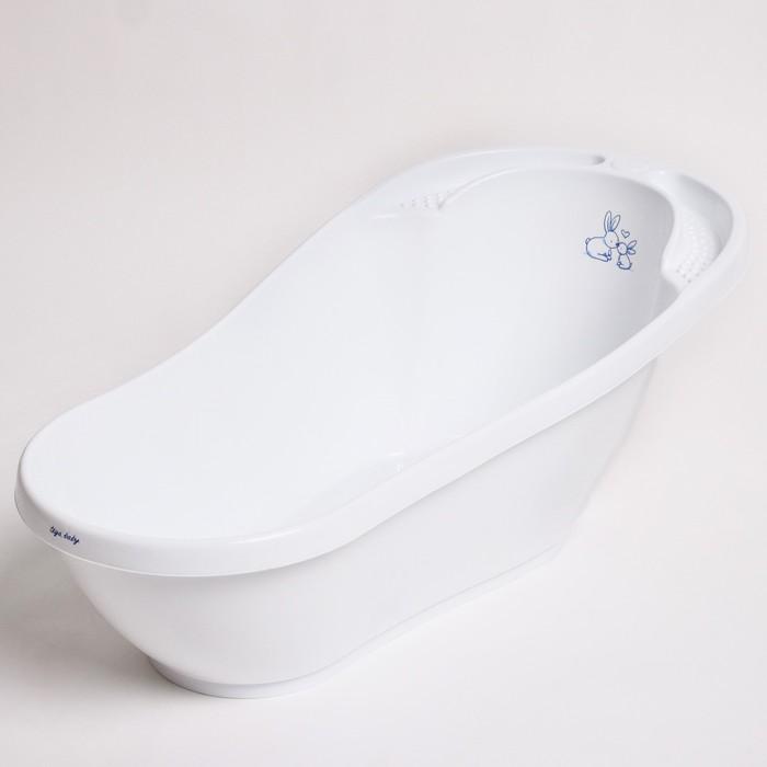 Ванна детская «Кролики» со сливом и термометром, 92 см, цвет белый
