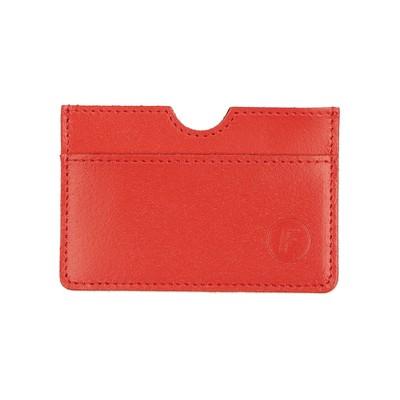 Картхолдер для карточек без застёжки, цвет красный