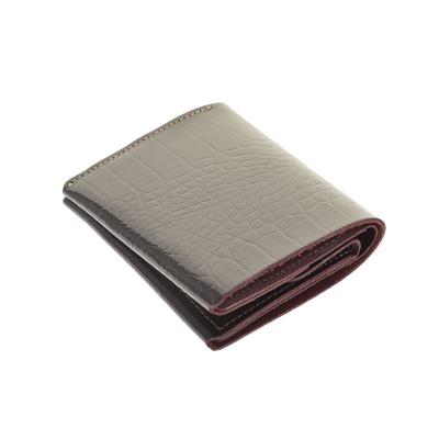 Портмоне для купюр на кнопке, 3 отд, н/кожа, бордовый (FT-P054-KR56)
