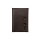 Обложка для паспорта без застежки, натуральная кожа, коричневый (FT-PS01-K02)