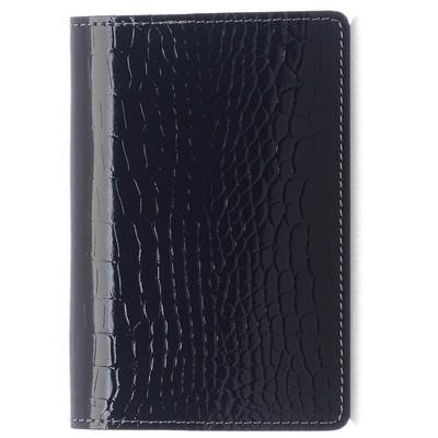 Обложка для паспорта, цвет чёрный