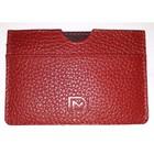 Картхолдер для карточек без застёжки, натуральная кожа, красный (DM-KH08-F007)
