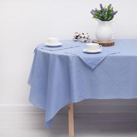 """Скатерть """"Голубая лагуна"""" 140х210 см,салфетка 30х30 см(6шт),принт МИКС"""