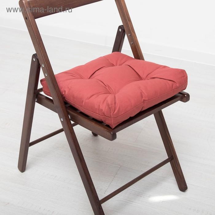 Подушка на стул г/к 07-791 40х40х8 см, репс, хл 100%, ПЭ 100%