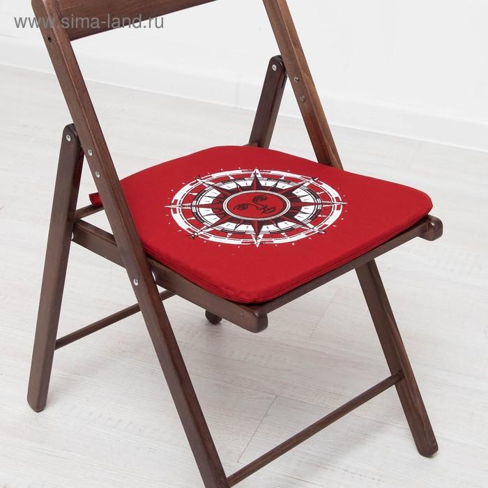 Подушка для сидения 02-291 Стороны света 41х26х41 см, репс хл 100%, ппу