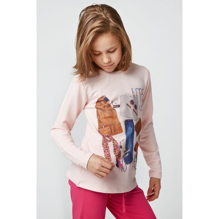 Джемпер для девочки, рост 134 см, цвет персиковый LR17-0434