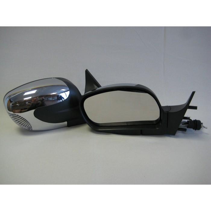 Зеркало боковое с регулировкой 3298-10, ВАЗ 2110, LADA PRIORA, хром, 2 шт.