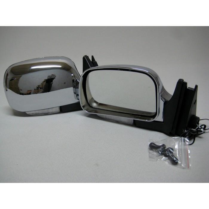 Зеркало боковое с регулировкой 3291-07, ВАЗ 2107, хром, 2 шт.