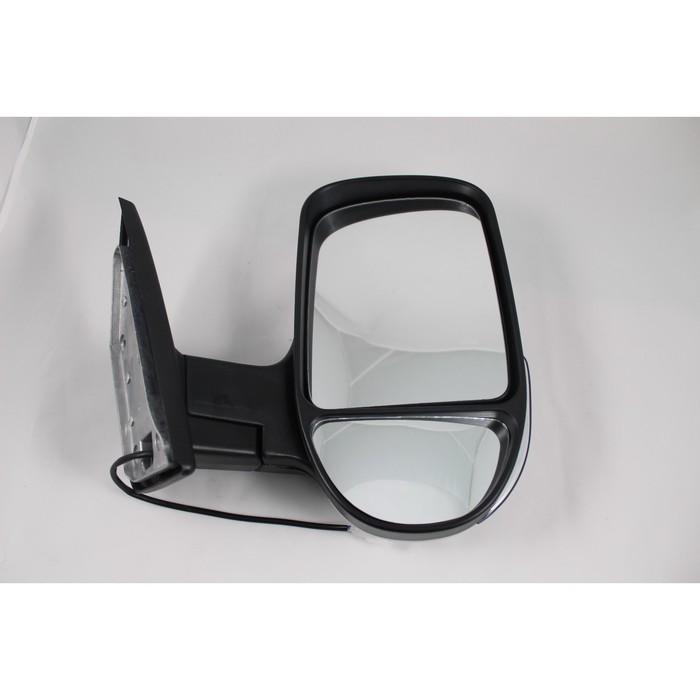 Зеркало боковое на ГАЗЕЛЬ 3296 белое, правое, с повторителем поворота и габаритом, 1 шт.