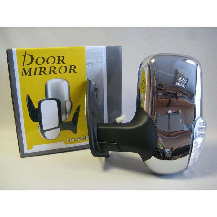 Зеркало боковое на ГАЗЕЛЬ 3296 хром, левое, с повторителем поворота и габаритом, 1 шт.