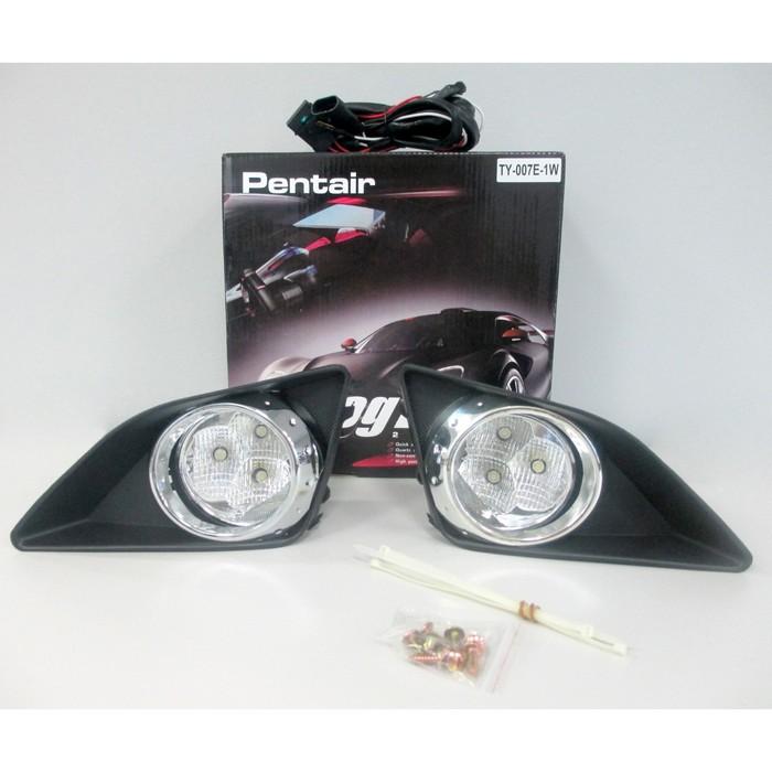 Фара противотуманная светодиодная TY-007E-1W LED, Toyota Corolla 2007-2010 г, хром
