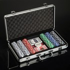 Poker metal carrying case (2 decks of cards, 300 chips s/f, 5 dice), 20.5 × 38 cm,