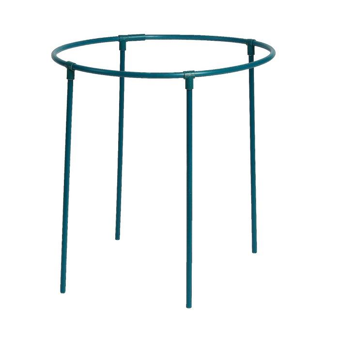 Кустодержатель, d = 50 см, h = 50 см, ножка d = 1.2 см, пластик, зелёный, «Роза»