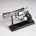 Lighter on the stand Pistol, piezo, gas, 24h14 cm
