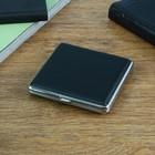 Cigarette case sleek, black, 10х9 cm