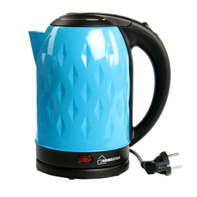 Чайник электрический HOMESTAR HS-1013, металл, 2 л, 1500 Вт, голубой