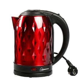 Чайник электрический HOMESTAR HS-1013, 1500 Вт, 2 л, металл, красный