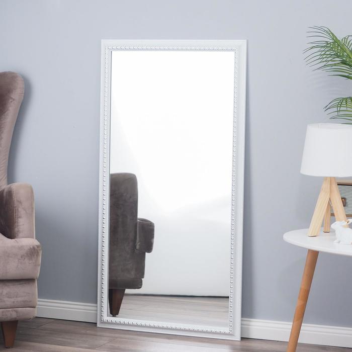 Зеркало настенное «Медальон», белое, 60×110 cм, рама пластик, 43 мм