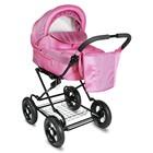 Коляска детская классическая «Лира», цвет розовый