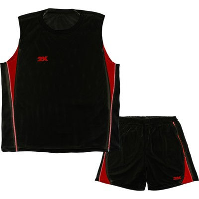 Тренировочная баскетбольная форма 2K Sport Agio (двухсторонняя), black/black/red, размер XXL   32803