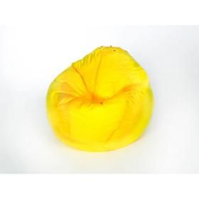 Кресло - мешок «Груша» малая, ширина 60 см, высота 85 см, цвет жёлтый, плащёвка