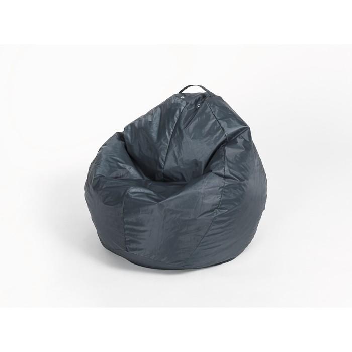 """Кресло-мешок """"Груша"""" малая, ширина 60 см, высота 85 см, цвет сине-чёрный, плащёвка"""