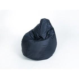 Кресло-мешок «Груша» средняя, ширина 75 см, высота 120 см, цвет сине-чёрный, плащёвка